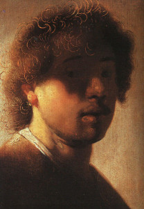 A self-portrait of and by Rembrandt.